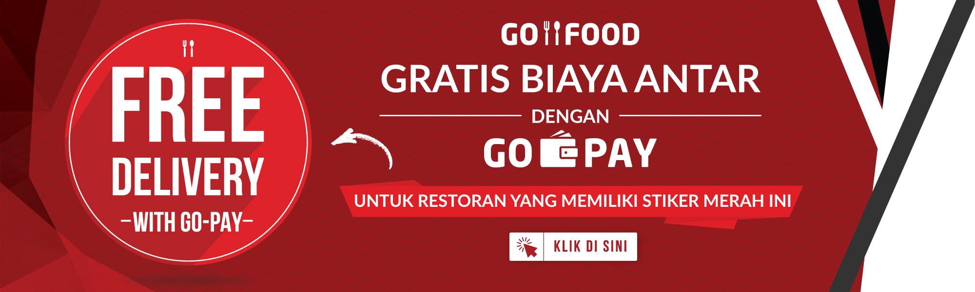 Gratis biaya pengantaran dengan GO-PAY di GO-FOOD | GO-FOOD