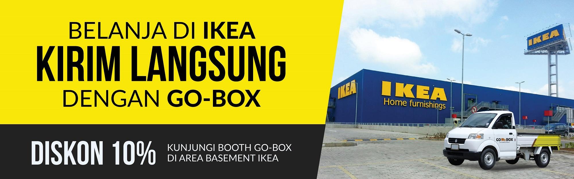 Belanja di Ikea lebih mudah menggunakan GO-BOX