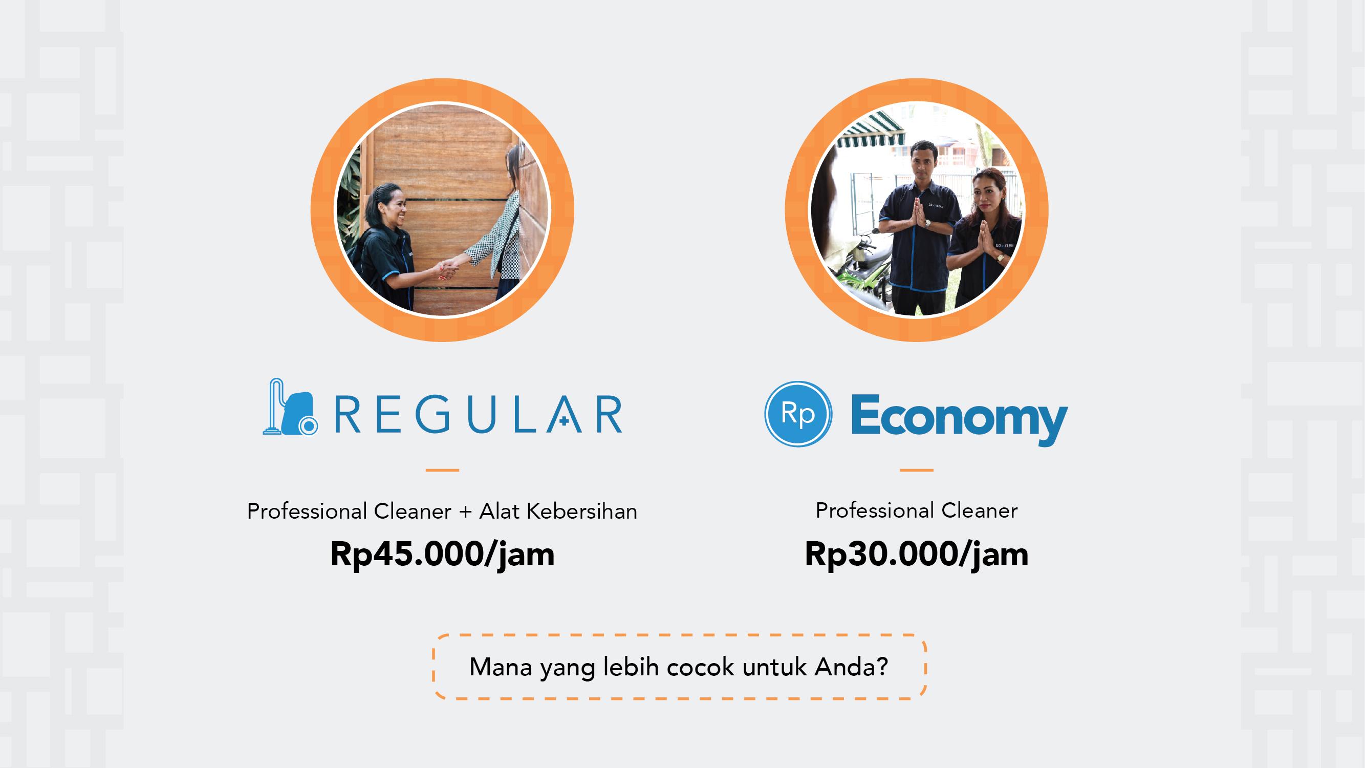 Perbedaan Go-Clean Regular & Go-Clean Economy