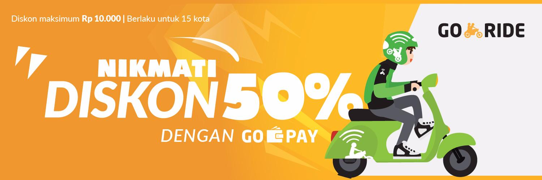 NIkmati Diskon 50% Dengan GO-PAY