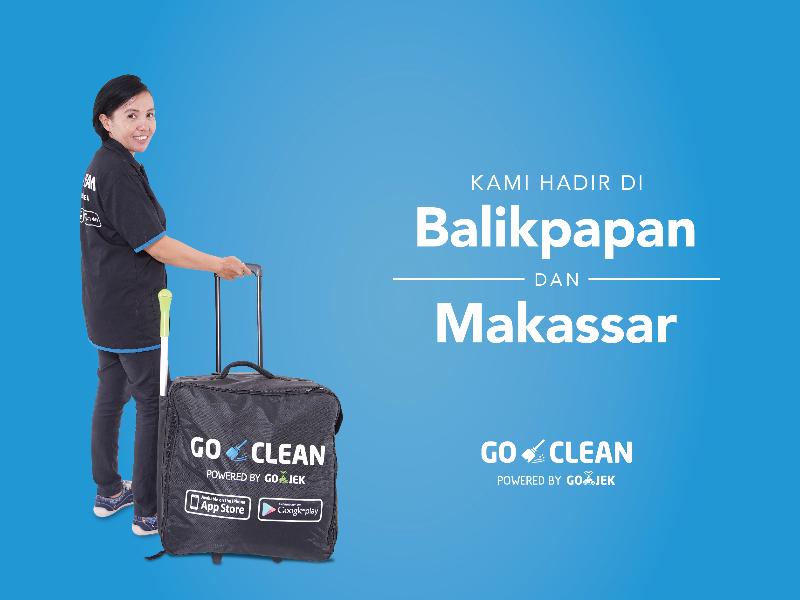 GO-CLEAN Siap Melayani Balikpapan dan Makassar